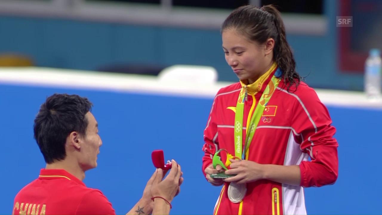 Der olympische Heiratsantrag von Qin Kai