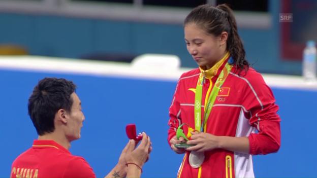 Video «Der olympische Heiratsantrag von Qin Kai» abspielen