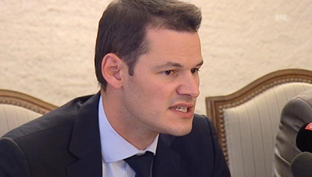 Video «Genfer Regierungsrat Pierre Maudet zum Tötungsdelikt (franz. Originalton)» abspielen