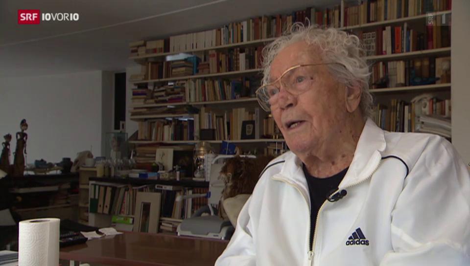 10vor10 hatte Erni zu seinem 106. Geburtstag besucht