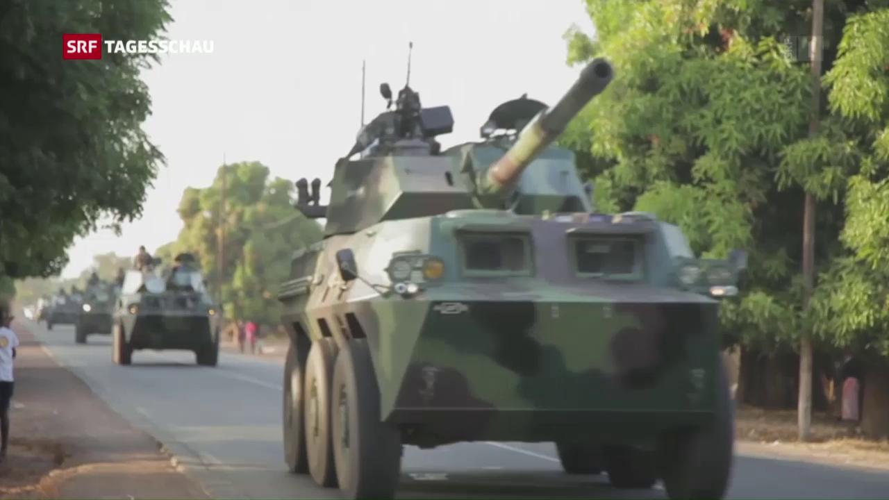 Senegals Truppen in Gambia einmarschiert