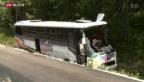 Video «Schweizer Car verliert Kontrolle» abspielen