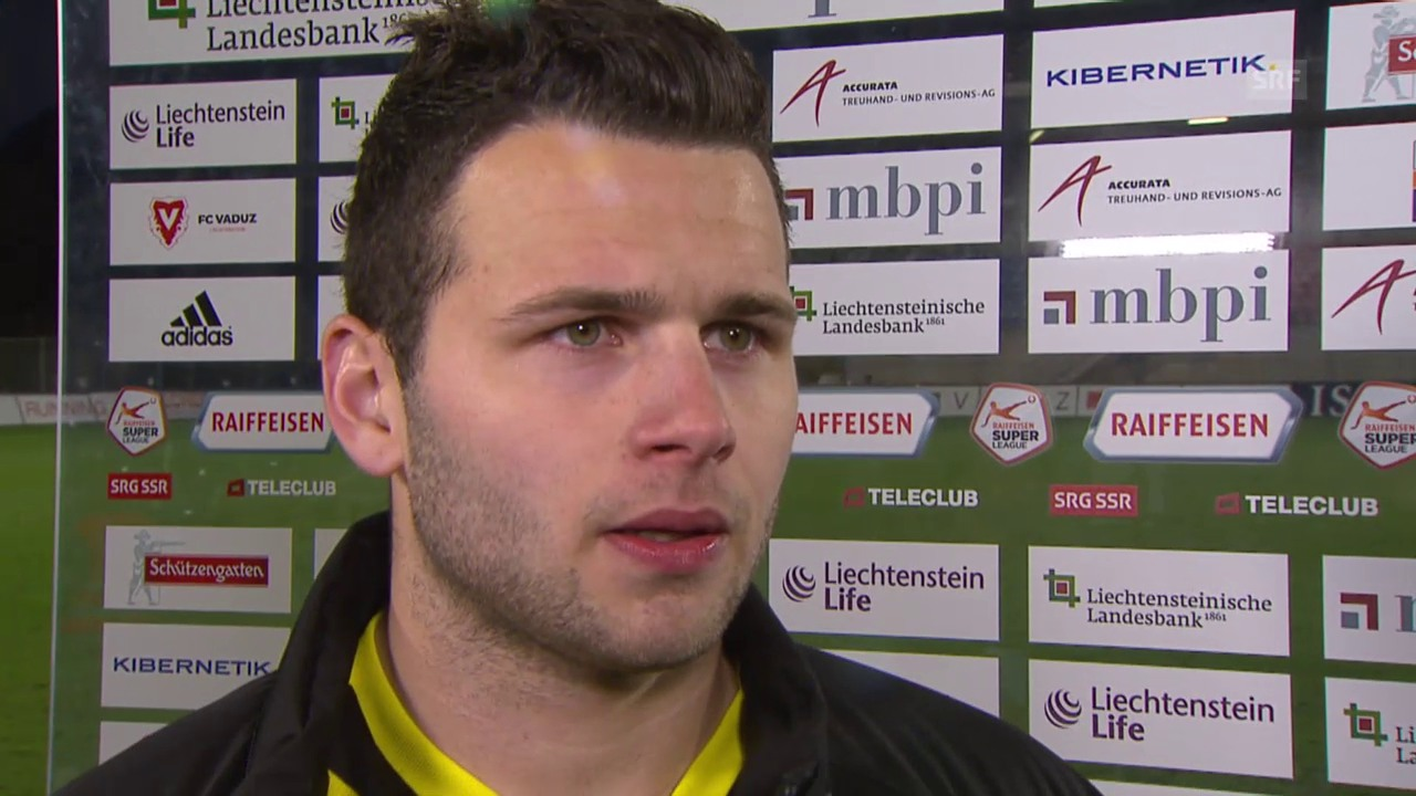 Fussball: Super League, Vaduz - YB, Interview Renato Steffen