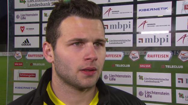 Video «Fussball: Super League, Vaduz - YB, Interview Renato Steffen» abspielen