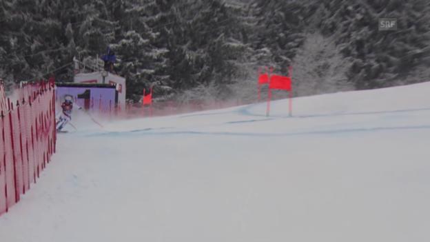 Video «Ski alpin: Weltcup Männer, Abfahrt Kitzbühel, Fahrt Défago» abspielen