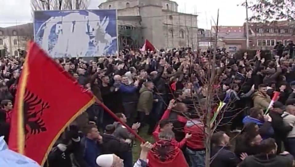 Proteste im Kosovo
