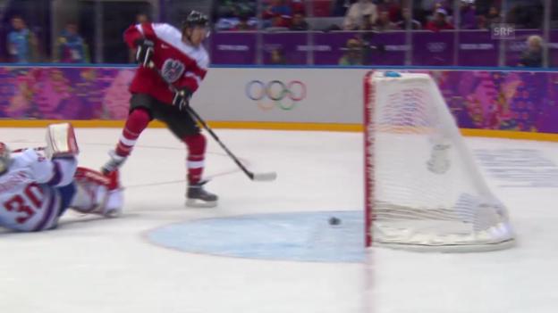 Video «Eishockey, Highlights Österreich-Norwegen (16.02.14)» abspielen
