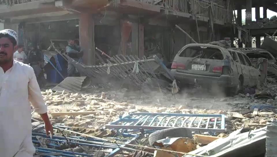 Schwere Lastwagenbombe in Kabul (unkommentiert)