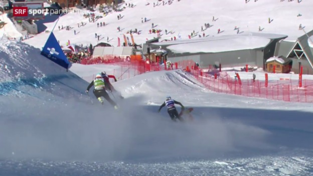 Video «Skicross: Weltcup in Val Thorens» abspielen
