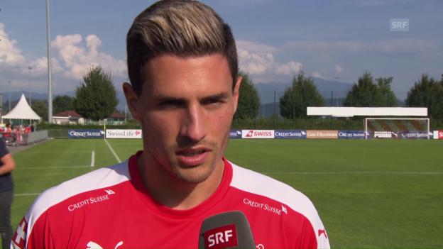 Video «Fabian Schär über Selbstvertrauen, die Bundesliga und Cristiano Ronaldo und» abspielen