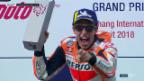 Video «Marquez gewinnt GP-Premiere in Thailand» abspielen