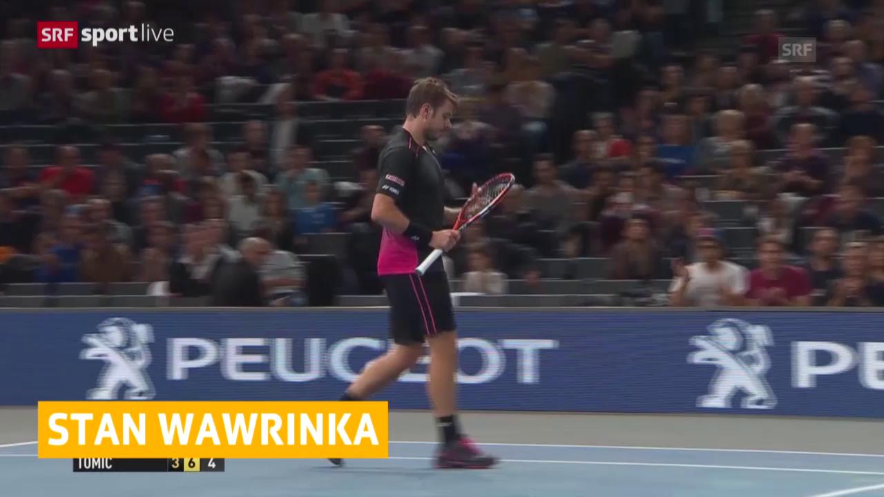 Tennis: ATP Paris-Bercy, Wawrinka schlägt Tomic