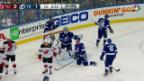 Video «Fiala und Hischier treffen in den NHL-Playoffs» abspielen