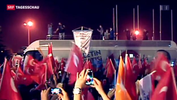 Video «Gegendemo für Erdogan in der Türkei» abspielen