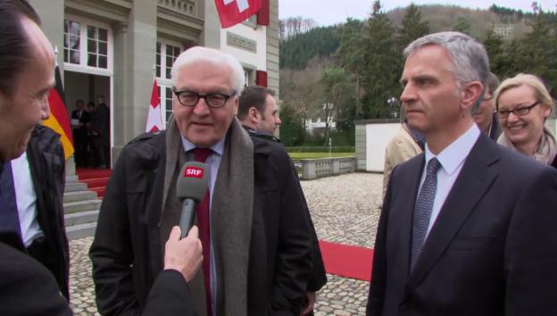 Video «Steinmeier hofft auf internationale Vermittlung» abspielen