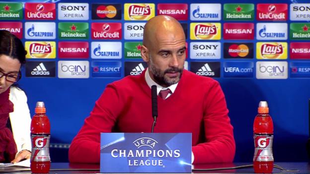 Video «Bayern-Trainer Guardiola: «Haben grossen Respekt» (SNTV)» abspielen
