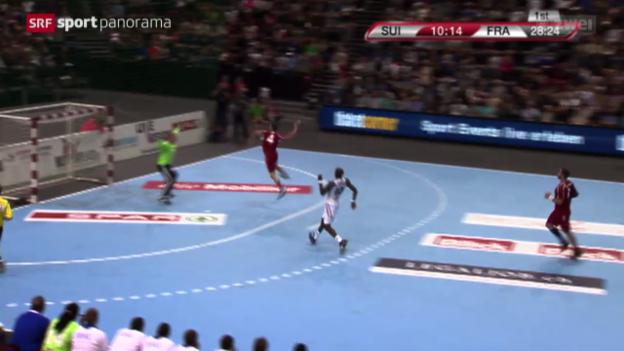 Video «Handball: EM-Qualifikation, Schweiz - Frankreich» abspielen