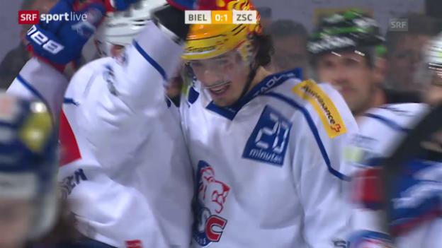 Video «Eishockey: NLA, Playoff-Viertelfinals, Biel - ZSC» abspielen