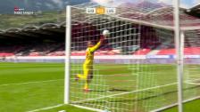 Link öffnet eine Lightbox. Video Lugano jubelt nach Sions Goalie-Bock abspielen