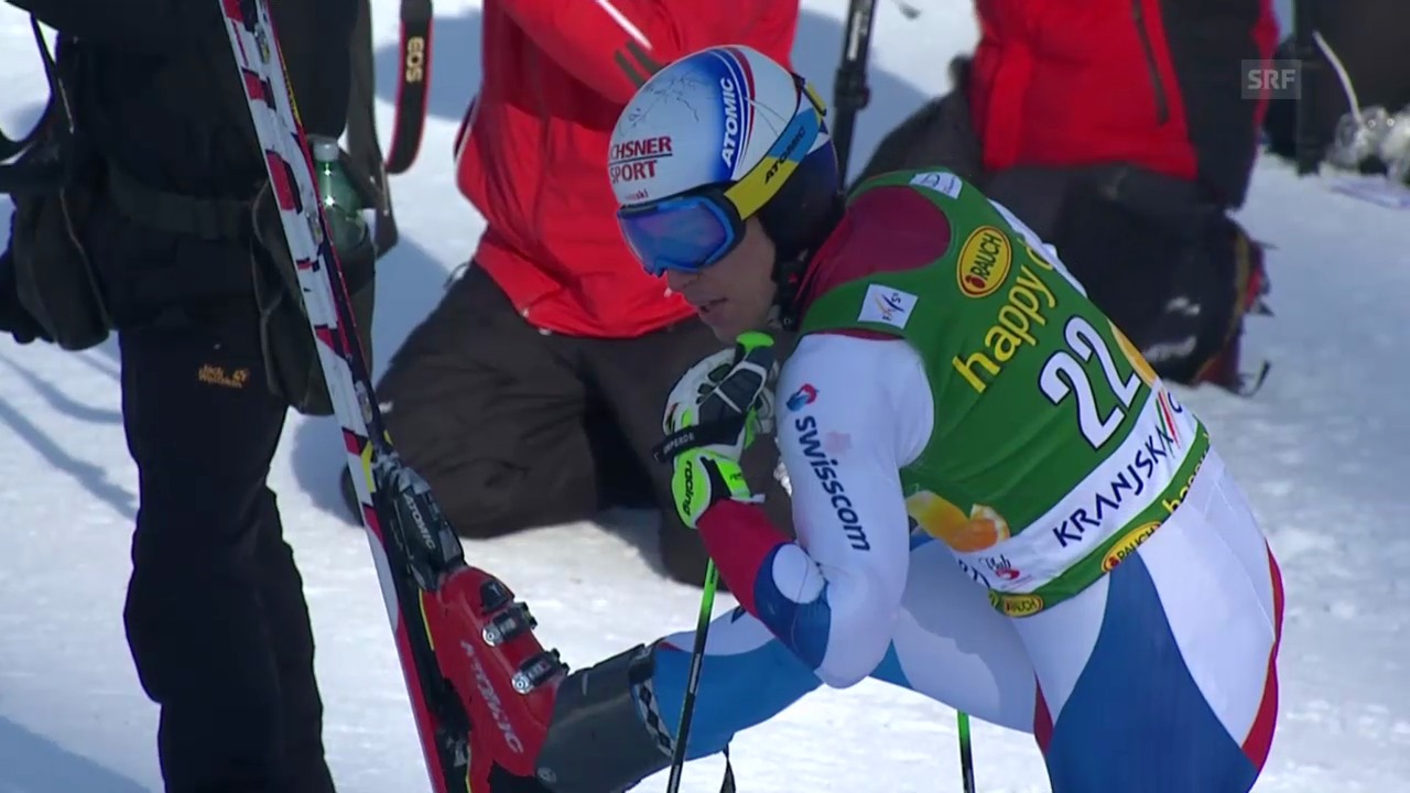 Ski Alpin: Riesenslalom Kranjska Gora, der Ausfall von Carlo Janka («sportlive», 8.3.2014)