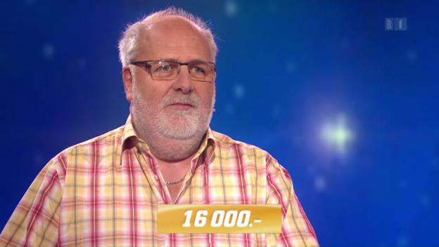 Video «Versucht sein Glück auf der Quiz-Insel: Heinz Rennhard aus Aarau» abspielen