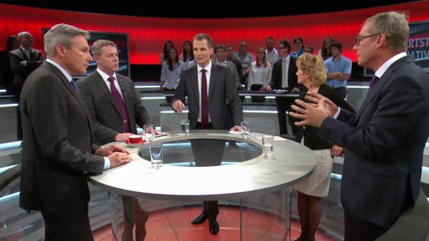 Video «Abstimmungs-Arena: Mehrwertsteuer-Initiative» abspielen