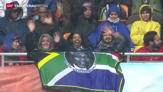 Video «Die Welt nimmt von Mandela Abschied» abspielen
