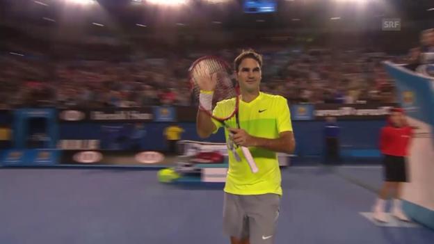 Video «Tennis: Australian Open, 1. Runde, Federer-Lu» abspielen