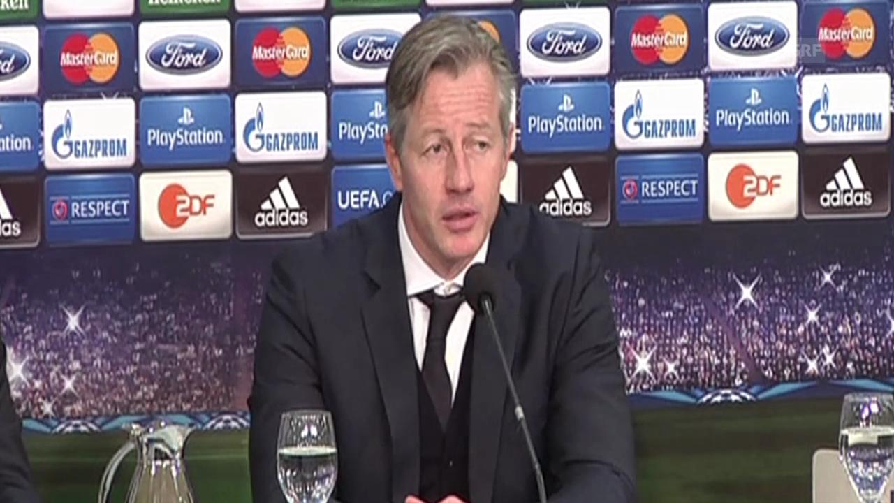Fussball: Schalke-Trainer Jens Keller zum 1:6 gegen Real (SNTV)