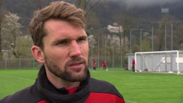 Video «Muntwiler zum Duell gegen St. Gallen» abspielen