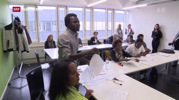 Video «Flüchtlinge werden zu Pflegern» abspielen