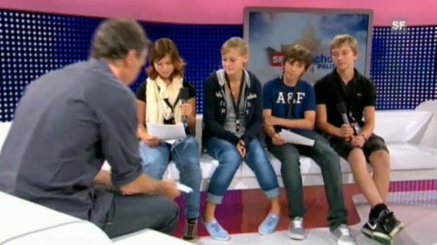 Video «Das ganze Interview der Sek-Klasse Hünenberg» abspielen