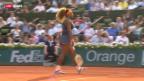 Video «Tennis: French Open, S.Williams - Errani» abspielen