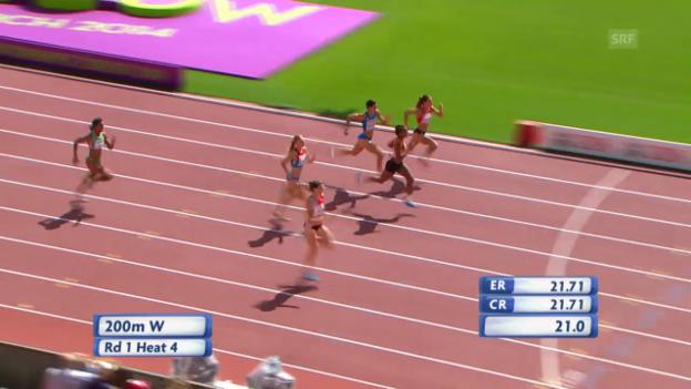 Video «LA: Der 200-m-Vorlauf von Lea Sprunger» abspielen