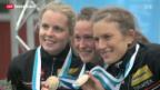 Video «Schweizer OL-Team gewinnt Bronze» abspielen