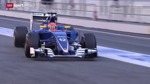 Video «Sauber testet den C35 in Barcelona» abspielen