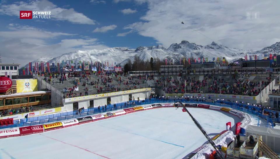 Aus dem Archiv: PC-7 kollidiert am Ski-WM mit Seilkamera