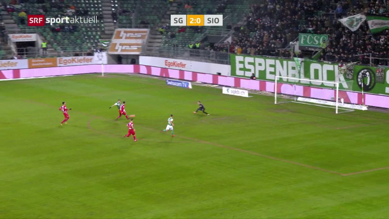 St. Gallen zittert sich gegen Sion zum Sieg