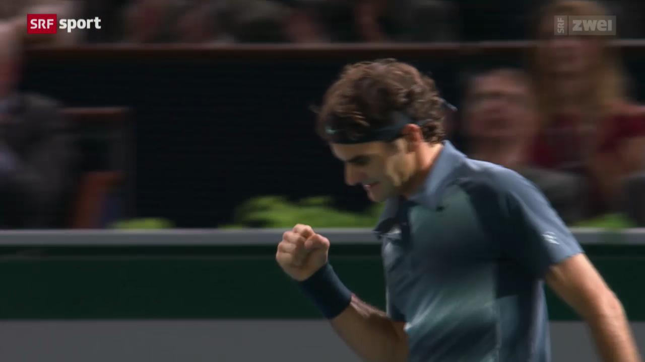Tennis: ATP-Turnier in Paris-Bércy, Federer - Anderson