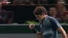 Video «Tennis: ATP-Turnier in Paris-Bércy, Federer - Anderson» abspielen