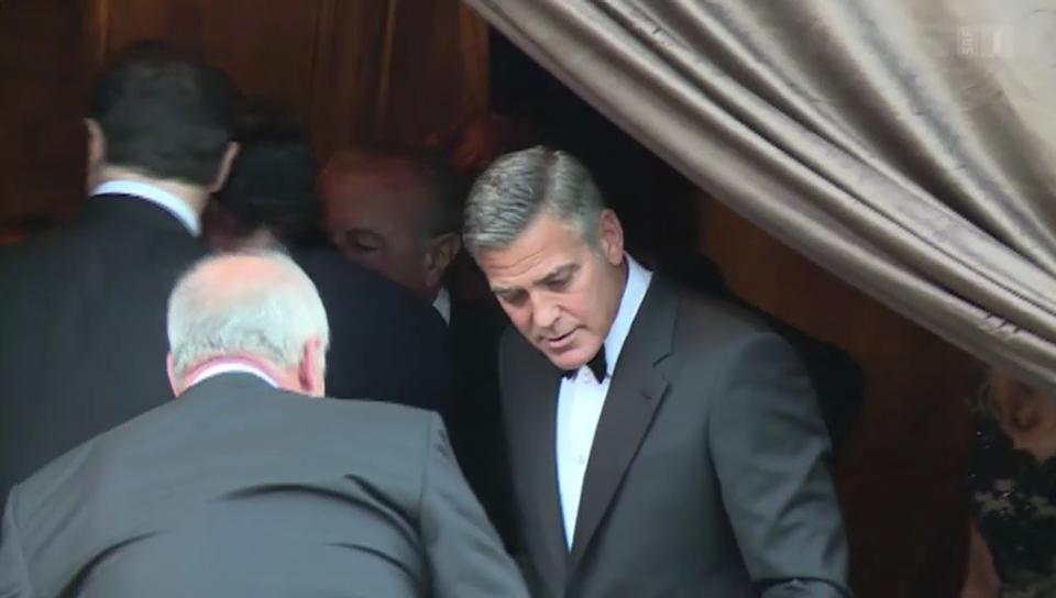 Mit George Clooney vor dem Traualtar