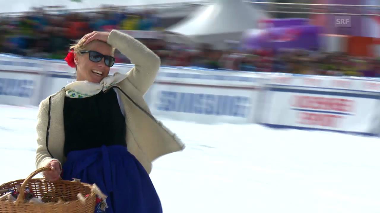 Ski: Denise Karbons Abschied auf der Lenzerheide («sportlive», 16.03.2014)