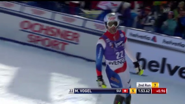 Ski alpin: 2. Slalomlauf von Vogel in Wengen («sportlive»)