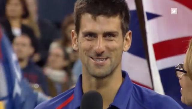 US Open: Interview mit Novak Djokovic