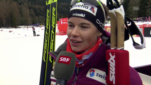 Video «Langlauf: Tour de Ski, Interview mit Nathalie von Siebenthal» abspielen