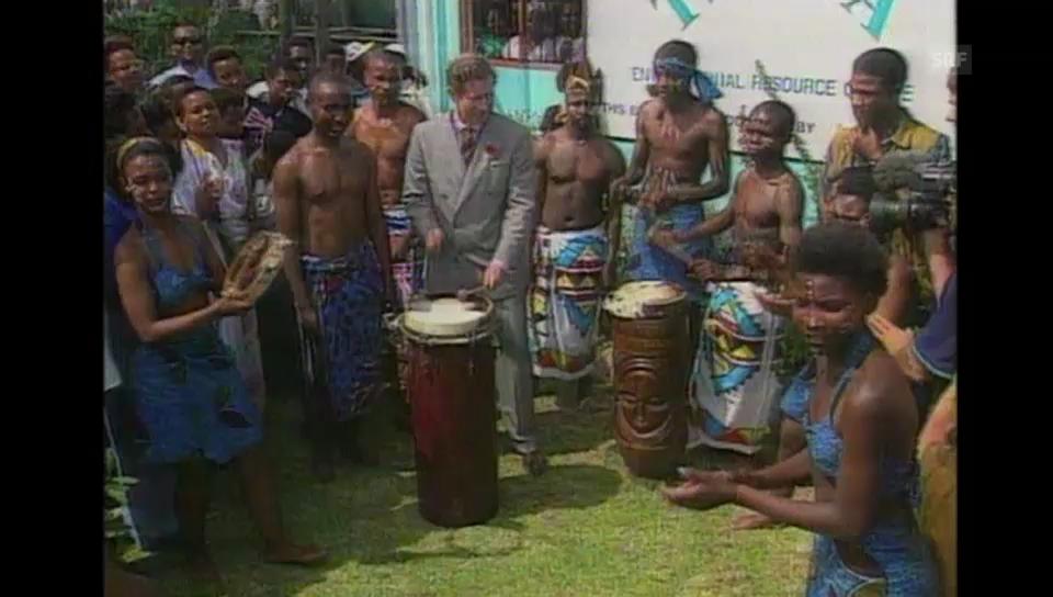 Trommelwirbel für und von Charles: 1997 in Südafrika