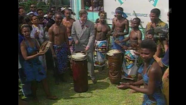 Video «Trommelwirbel für und von Charles: 1997 in Südafrika» abspielen