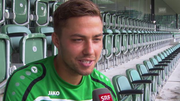 Video «Fussball: Alain Wiss über seinen Wechsel zu St. Gallen» abspielen