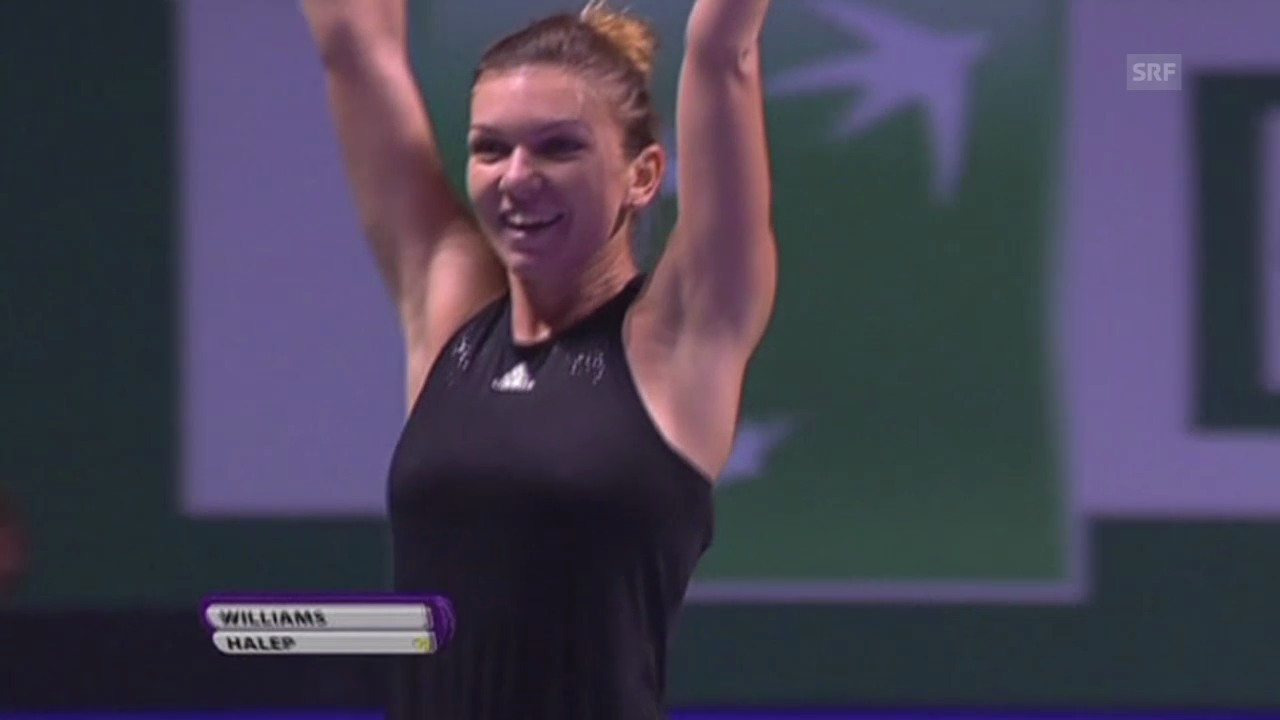 Tennis: WTA Finals, Halep-Williams