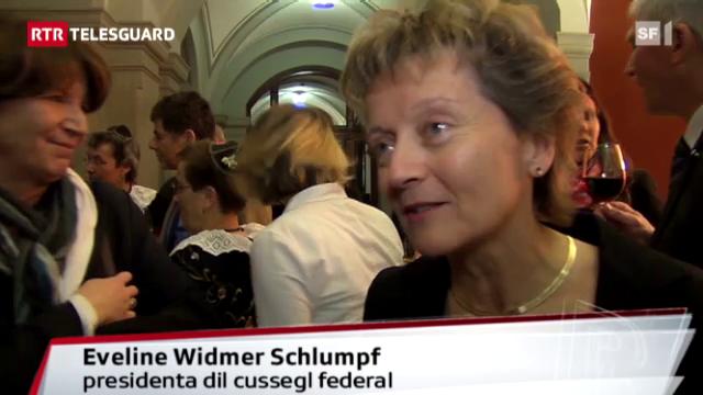 Eveline Widmer-Schlumpf gist suenter la reelecziun (2011)